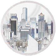 Seattle City Original Work Round Beach Towel