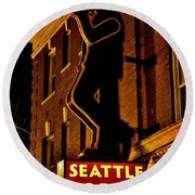 Seattle Coffee Works Round Beach Towel