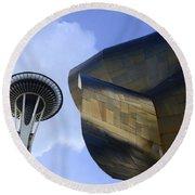 Seattle Emp Building 4 Round Beach Towel