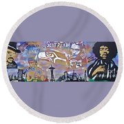 Seattle Icons Round Beach Towel