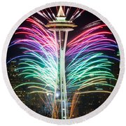 Seattle New Year Round Beach Towel