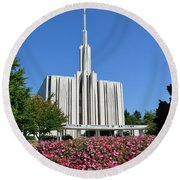 Seattle Temple Round Beach Towel