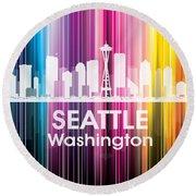 Seattle Wa 2 Round Beach Towel