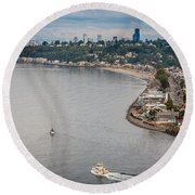 Seattle Waterfront 3 Round Beach Towel