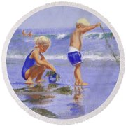 Seaweed Play Round Beach Towel