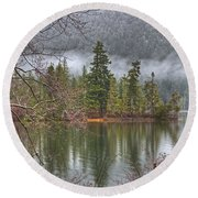 Secluded Cove Round Beach Towel