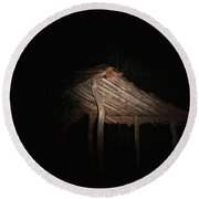 Secluded Hut Round Beach Towel