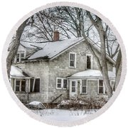 Secluded Old House Round Beach Towel