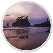 Second Beach Round Beach Towel