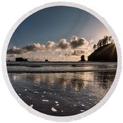 Second Beach Light And Current Round Beach Towel