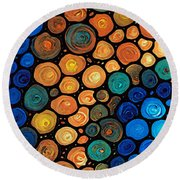 Second Chances - Abstract Art By Sharon Cummings Round Beach Towel
