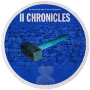 Second Chronicles Books Of The Bible Series Old Testament Minimal Poster Art Number 14 Round Beach Towel