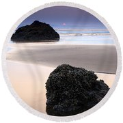 Second Rock From The Sun Round Beach Towel
