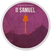Second Samuel Books Of The Bible Series Old Testament Minimal Poster Art Number 10 Round Beach Towel
