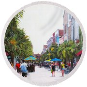 Second Sunday On King St. Round Beach Towel