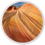 Second Wave Surf Round Beach Towel by Inge Johnsson
