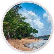 Secret Island Beach Round Beach Towel