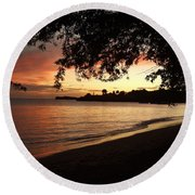 Secret Sunset Round Beach Towel