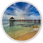 Secrets Aura Pier Round Beach Towel