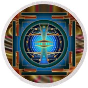Secrets Of Mandala Time Round Beach Towel