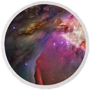 Secrets Of Orion II Round Beach Towel
