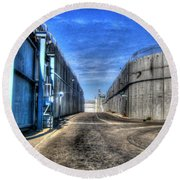 Security Wall Round Beach Towel