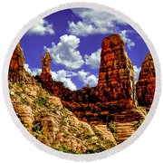 Sedona Arizona Red Rock Secret Mountain Wilderness Round Beach Towel