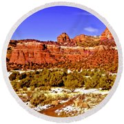 Sedona Arizona Secret Mountain Wilderness Round Beach Towel
