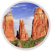 Sedona Red Rock Cathedral Rock State Park Round Beach Towel