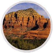 Sedona Rock Formations Round Beach Towel