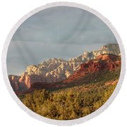 Sedona Sunshine Panorama Round Beach Towel