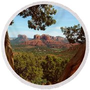 Sedona Vista Round Beach Towel