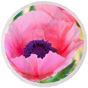 Seductive Poppy Round Beach Towel