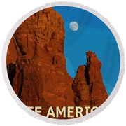 See America - Coconino National Forest Round Beach Towel
