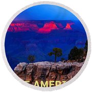 See America - Grand Canyon National Park Round Beach Towel