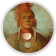 See Non Ty A An Iowa Medicine Man Round Beach Towel