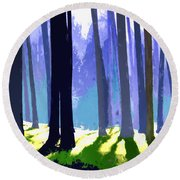 See The Forest For The Trees Round Beach Towel