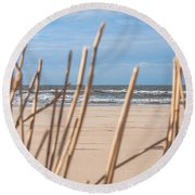 See Through On The Dutch Beach Round Beach Towel