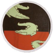 See You Later Alligator... Round Beach Towel
