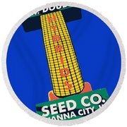 Seed Company Sign 1.3 Round Beach Towel