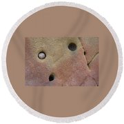 Seed In Rock Round Beach Towel