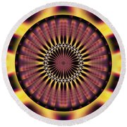 Seed Of Life Kaleidoscope Round Beach Towel