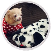 Seeing Spots Round Beach Towel by Laurie Search