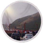 Seeing The Golden Gate Round Beach Towel