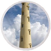 Seeing Through The Clouds Round Beach Towel