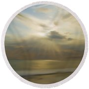Seek And You Shall Find Round Beach Towel