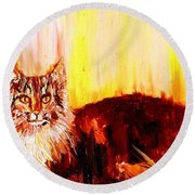 Seeker Of The Unknown Round Beach Towel