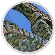 Segovia Aqueduct Arch By Diana Sainz Round Beach Towel