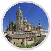 Segovia Spain Round Beach Towel