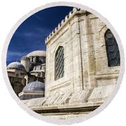 Sehzade Mosque Istanbul Round Beach Towel
